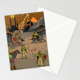 evil orcs in the castle valley Stationery Cards