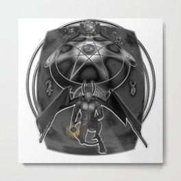Dark Universe in Symbols Metal Print