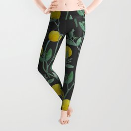 Billy Bob's and Eucalyptus with Charcoal Background Leggings