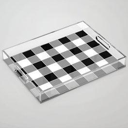 Buffalo Check - black / white Acrylic Tray