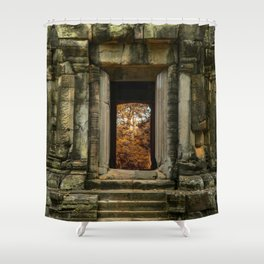 Mysterious Temple Shower Curtain