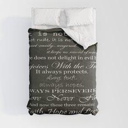 Love Is Patient Comforters