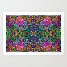 Buddha 5 geometry III Art Print