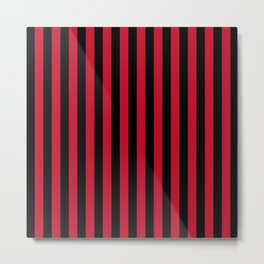 AC Milan Stripes Metal Print