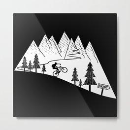 MTB Mountain Bike Downhill Cycling Metal Print