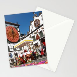 Religious festival in Azores Stationery Cards
