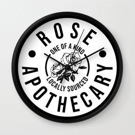 Rose Apothecary. Ew david gift. Rosebud motel Wall Clock