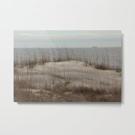 Sand Dune with Sea Oats Metal Print