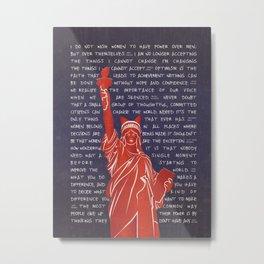 Lady Liberty Feminist Metal Print