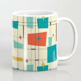 Mid Century Modern Geo Plaid Coffee Mug