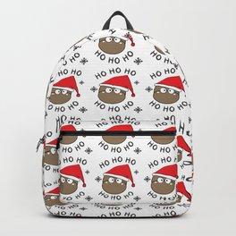ho ho ho greeting season Backpack