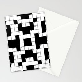 Cool Crossword Pattern Stationery Cards