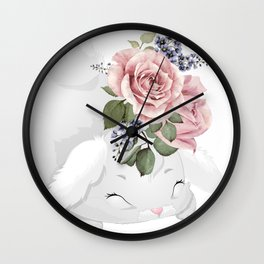 cute leveret Wall Clock