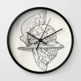 Roman helmet. Zentangle stylized. Vector illustration. Pattern. Wall Clock