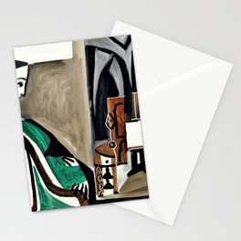 Pablo Picasso - Woman in the workshop - Digital Remastered Edition Stationery Cards