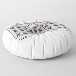 Sketch of Netherfield Park from Pride and Prejudice Floor Pillow