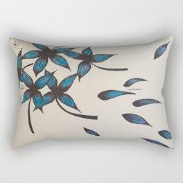 Blue flying Rectangular Pillow