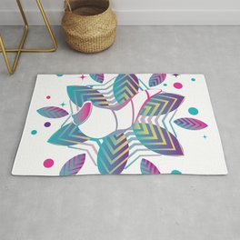 Colorful shofar with patterns Rug