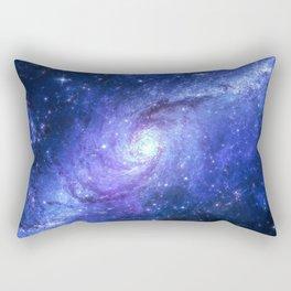 Purple Galxy Swirl Rectangular Pillow