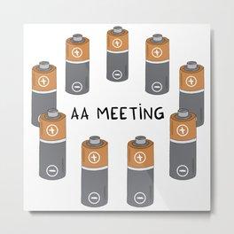 AA meeting Metal Print