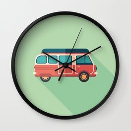 Retro Minivan Wall Clock
