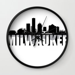 Milwaukee Silhouette Skyline Wall Clock