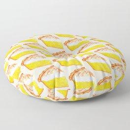 Lemon Meringue Pie Pattern Floor Pillow