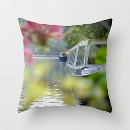 The Flowering look at a boat on the Little Venice canals in London | Color Photography | Travel Photography | Photo Print | Art Print Throw Pillow