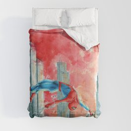Dawn in NY Comforters