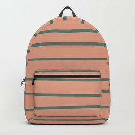 Thistle Green 22-18 Hand Drawn Horizontal Lines on Earthen Trail Pink 4-26 Backpack
