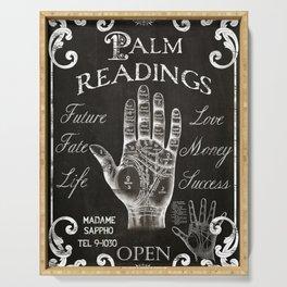 Vintage Palmistry Sign Serving Tray