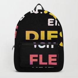 Car Diesel driver ban funny slogan diesel Backpack