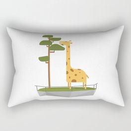 A day in the life of a giraffe at the zoo Rectangular Pillow