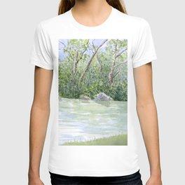 Lake Landscape Watercolor  T-shirt