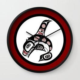 Northwest Pacific coast Haida art Killer whale Wall Clock