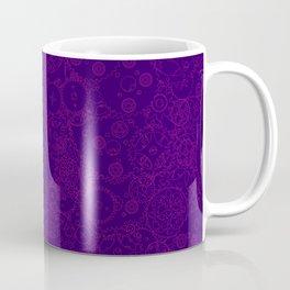 Clockwork PURPLE DREAM / Cogs and clockwork parts lineart pattern Coffee Mug