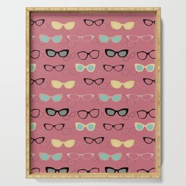 1950's Specs in Pink Flamingo Serving Tray