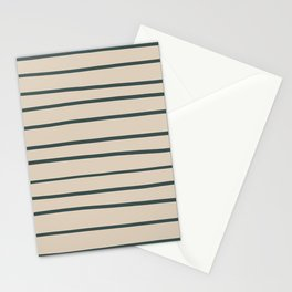Night Watch PPG1145-7 Hand Drawn Horizontal Stripes on Sourdough Beige Tan PPG1084-3 Stationery Cards