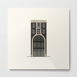 Black house with a shop Metal Print