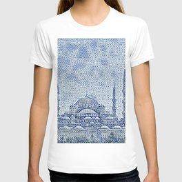 Turkey Hagia Sophia Artistic Illustration Raw Cloth Style T-shirt
