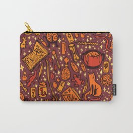 Witchy Things - Halloween Colors Carry-All Pouch