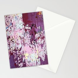 Abstract artwork original painting on canvas. Red, pink, yellow, blue, green, white colors. Stationery Cards