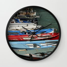 Fishing boats in Cincque Terre – Travel Photography Italy Wall Clock