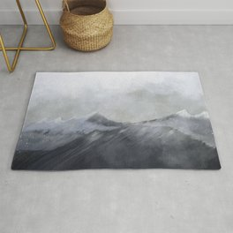 happy in the mountains Rug