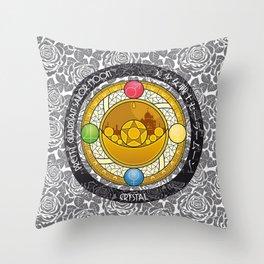 Sailor Moon - Crystal Transformation Brooch Throw Pillow