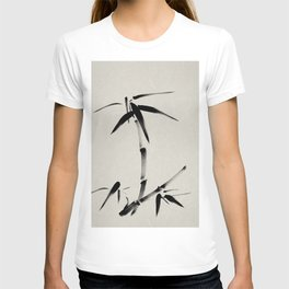Bamboo Brush Ink Painting - Japanese Zen Art T-shirt