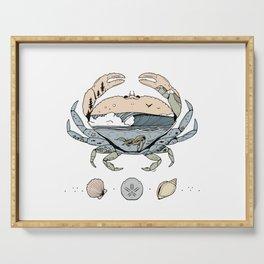 """Crabby Day"" // Beach Wave Underwater Art Serving Tray"