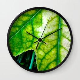 Macro Leaf Wall Clock