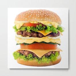 Cheeseburger YUM Metal Print