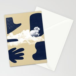 Mix of worlds, between abstract and more abstract #601 Stationery Cards